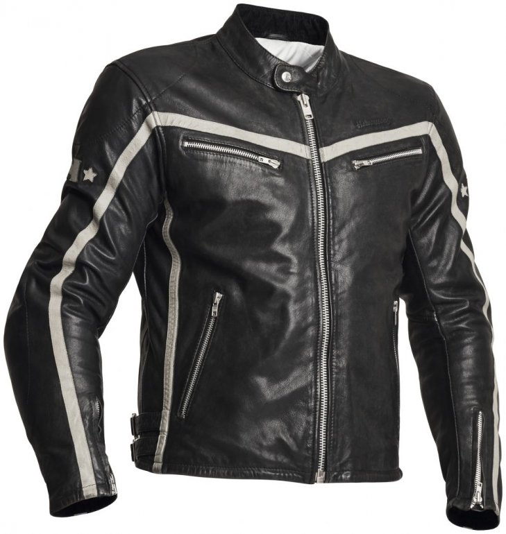 Image of HALVARSSONS 310 LEATHER JACKET - BLACK - ONLINE ONLY