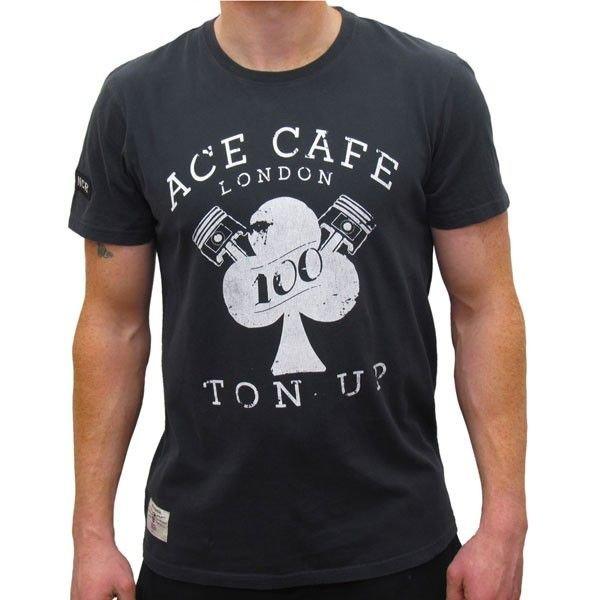 Image of ACE CAFE TON UP BK T SHIRT
