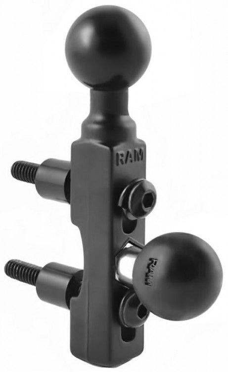 "Image of RAM MOUNTS H/BAR BASE WITH 2 x 1"" BALLS*"
