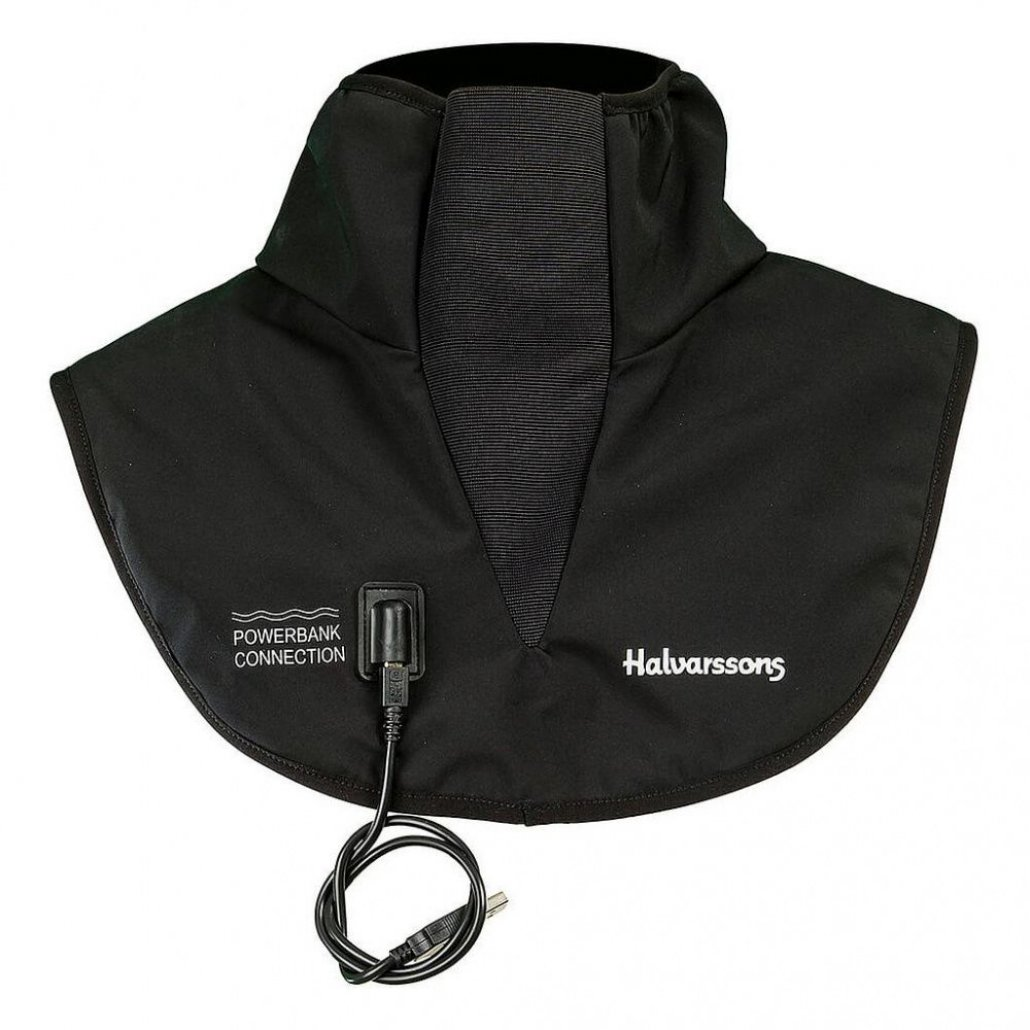Image of HALVARSSONS POWER BANK HEATED COLLAR - BLACK