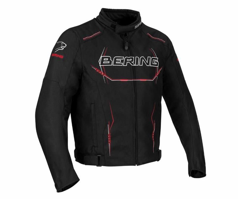 Image of BERING FORCIO TEXTILE JACKET - BK/RD/W