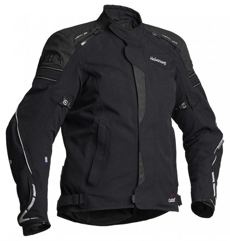 Image of HALVARSSONS LADY WALKYRIA LAMINATE JACKET - BLACK