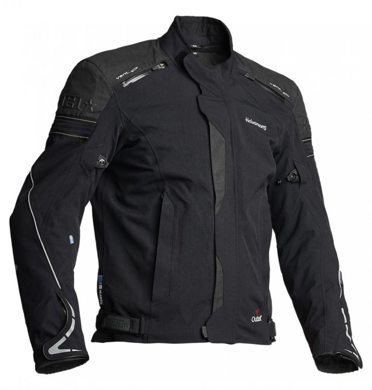 Image of HALVARSSONS WALKYR LAMINATE JACKET - BLACK