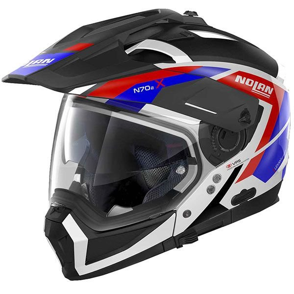 Image of NOLAN N70-2 X GRANDES ALPES - BLK/WHITE/BLUE/RED