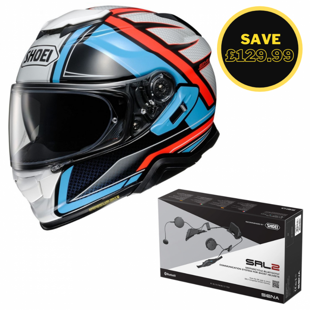 Image of SHOEI GT AIR 2 - HASTE TC2 + SENA SRL 2 BUNDLE