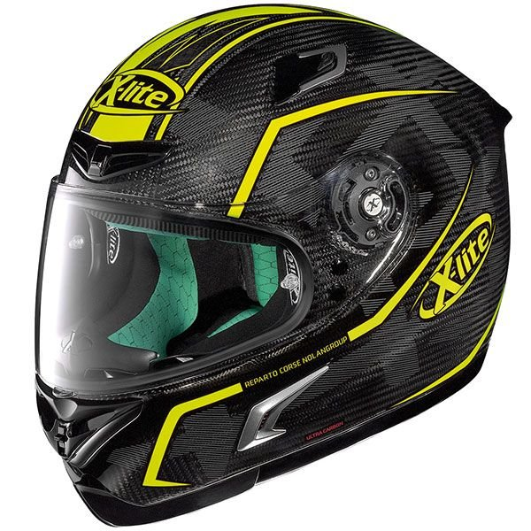 Image of X-LITE X-802RR ULTRA CARBON - MARQUETRY - CARBON/YELLOW