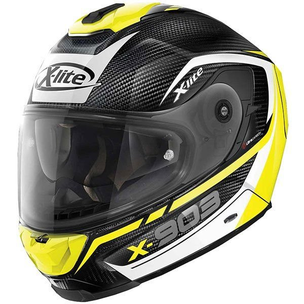 Image of X-LITE X-903 ULTRA CARBON - CAVALCADE - CARBON/YELLOW