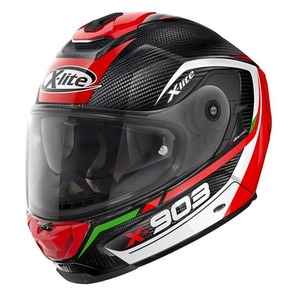 Image of X-LITE X-903 ULTRA CARBON - CAVALCADE - RED/WHITE/GREEN