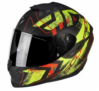 SCORPION EXO 1400 PICTA MAT BLK/YEL - PRE ORDER ONLY image