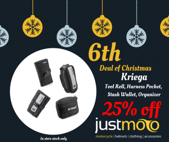 KRIEGA ACCESSORIES - 25% OFF - IN STORE ONLY image
