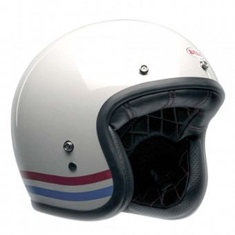 BELL CUSTOM 500 HELMET - STRIPES PEARL WHITE image