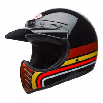 BELL MOTO 3 HELMET - STRIPES BLACK / ORANGE image