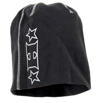 HALVARSSONS TOP BEANIE HAT - BLACK image
