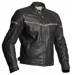 HALVARSSONS EAGLE LEATHER JACKET – BLACK/RED image