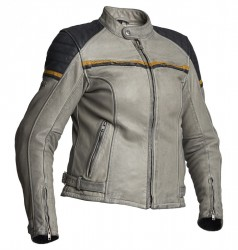 HALVARSSONS LADY EAGLE LEATHER JACKET – BLACK/GREY/YELLOW  image