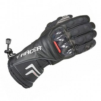 RACER CARBON WATERPROOF GLOVES - BLACK image
