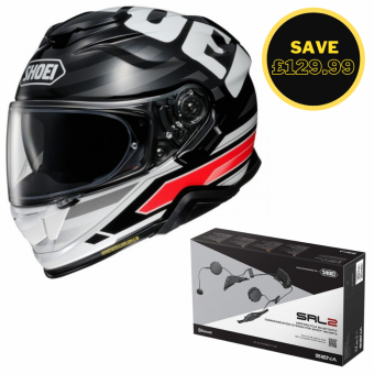 SHOEI GT AIR 2 - INSIGNIA TC1 - SENA SRL 2 BUNDLE image