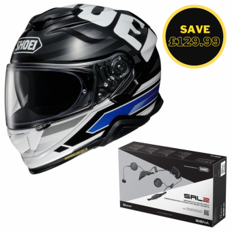 SHOEI GT AIR 2 - INSIGNIA TC2 + SENA SRL 2 BUNDLE image