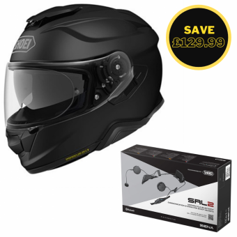 SHOEI GT AIR 2 - MATT BLACK + SENA SRL 2 BUNDLE image