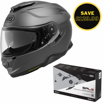 SHOEI GT AIR 2 - MATT GREY + SENA SRL 2 BUNDLE image