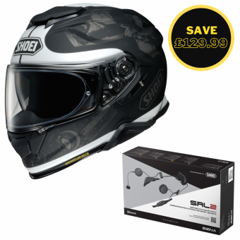 SHOEI GT AIR 2 - REMINISCE TC5 + SENA SRL 2 BUNDLE image