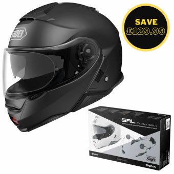 SHOEI NEOTEC 2 - MATT BLACK + SENA SRL BUNDLE image