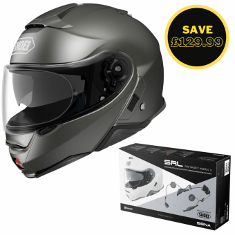 SHOEI NEOTEC 2 - PLAIN ANTHRACITE + SENA SRL BUNDLE image
