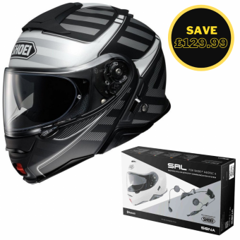SHOEI NEOTEC 2 - SPLICER TC5 GREY + SENA SRL BUNDLE image