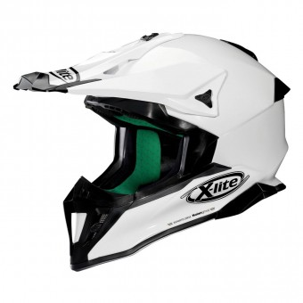 X-502 Off Road Full Face Start Metal White image