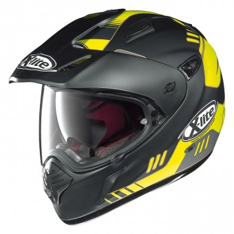 X-551 GT On/Off Road Full Face Calama N-Com Flat Black/Yellow image