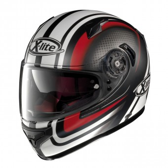 X-661 Road Full Face Slipstream Flat Black/Red image
