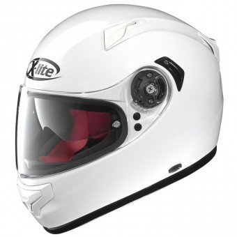 X-661 Road Full Face Start N-com Metal White image