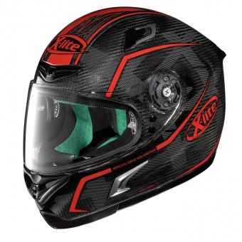 X-802RR Ultra Carbon Road Full-Face Marquetry Carbon/Red image