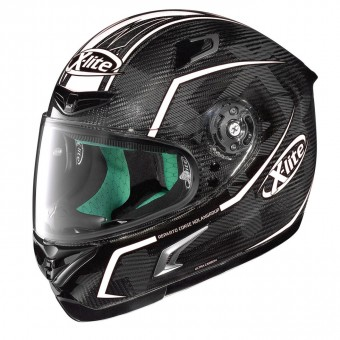 X-802RR Ultra Carbon Road Full Face Marquetry Carbon Black/White image