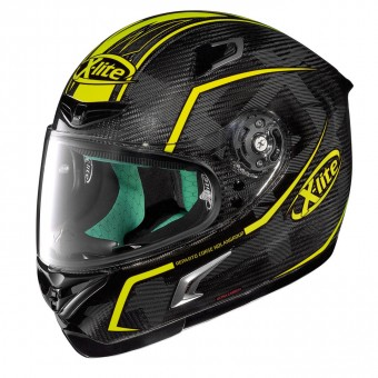 X-802RR Ultra Carbon Road Full Face Marquetry Black/Fluo image